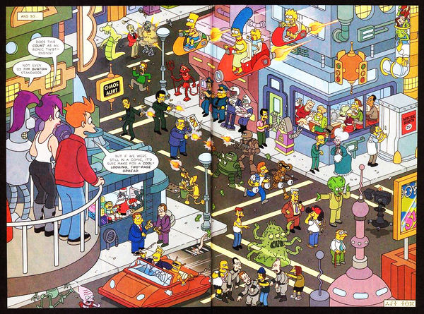 When Futurama Met The Simpsons