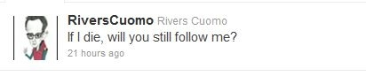 Rivers Cuomo's Bizarre Tweet