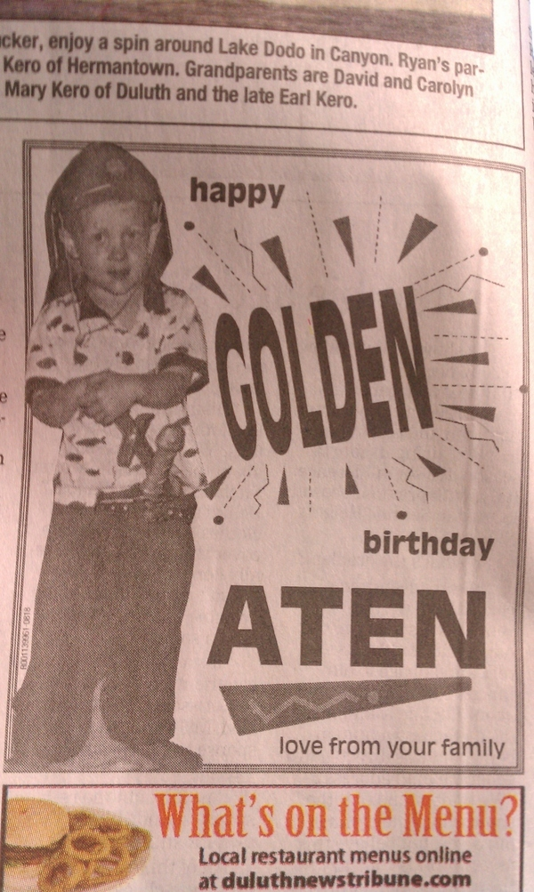 The Most Unfortunate Picture EVER Used For Newspaper Birthday Wish!
