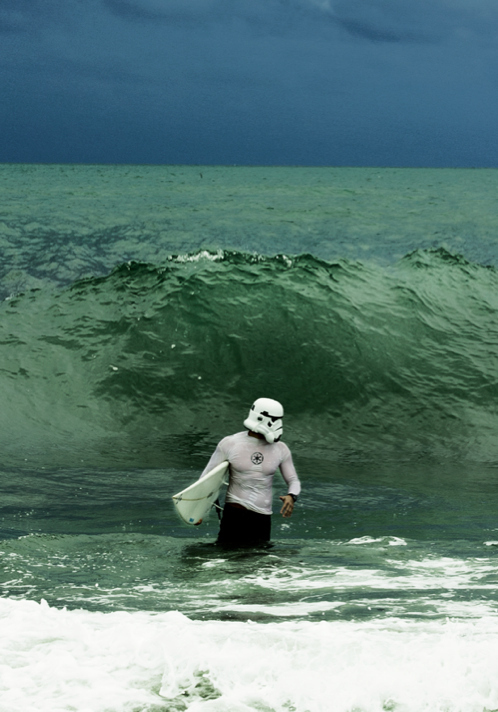 Check Out the Amazing Surfing Stormtrooper!