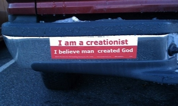 Awesome Creationist Bumper Sticker