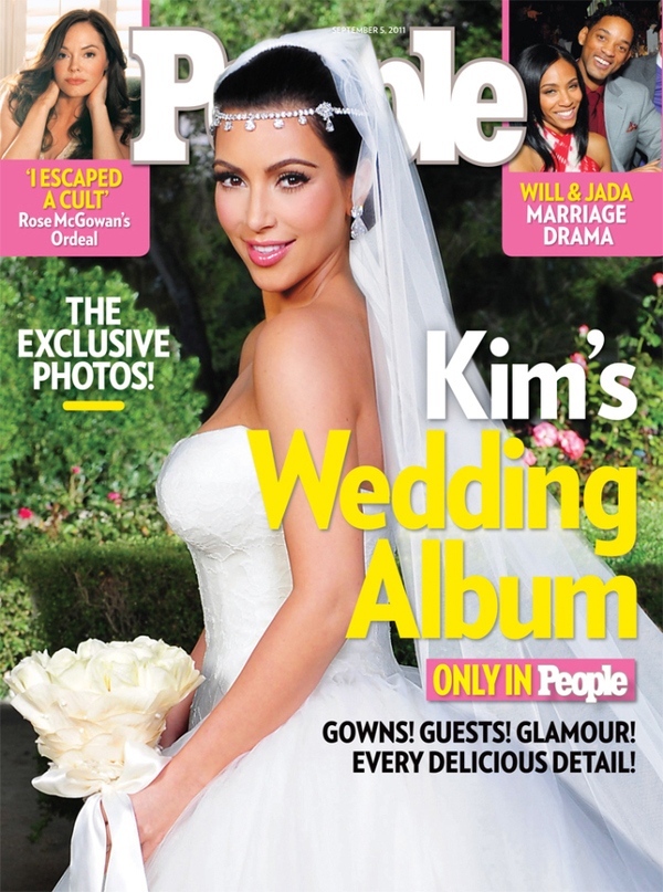 People Magazine Defend Kim Kardashian Wedding Cover Without Kris Humphries