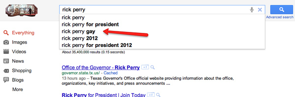 What Google Thinks Of Rick Perry