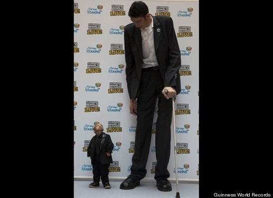 Worlds Tallest Next to the Worlds Smallest