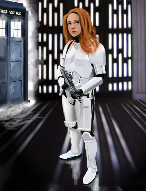 Amy Pond On The Death Star