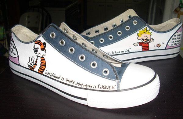 Custom Calvin & Hobbes Sneakers