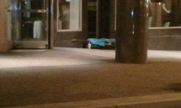 A Homeless Guy Planking