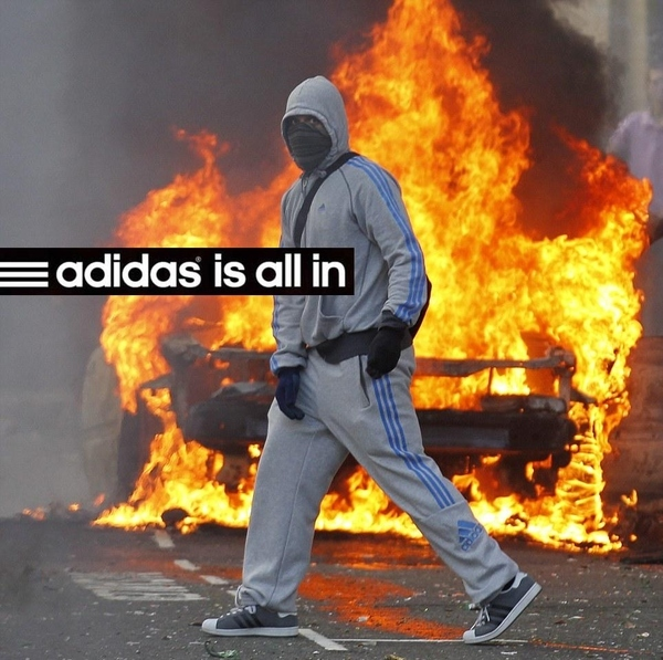 LONDON RIOTS. ADIDAS IS ALL IN.