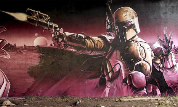 Amazing Boba Fett Wall Graffiti