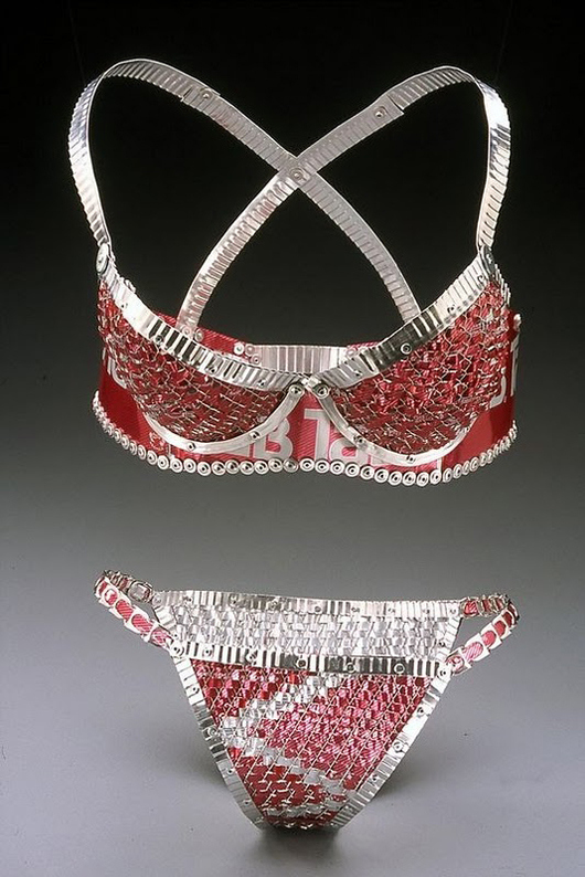 Lingerie Made From Soda Cans