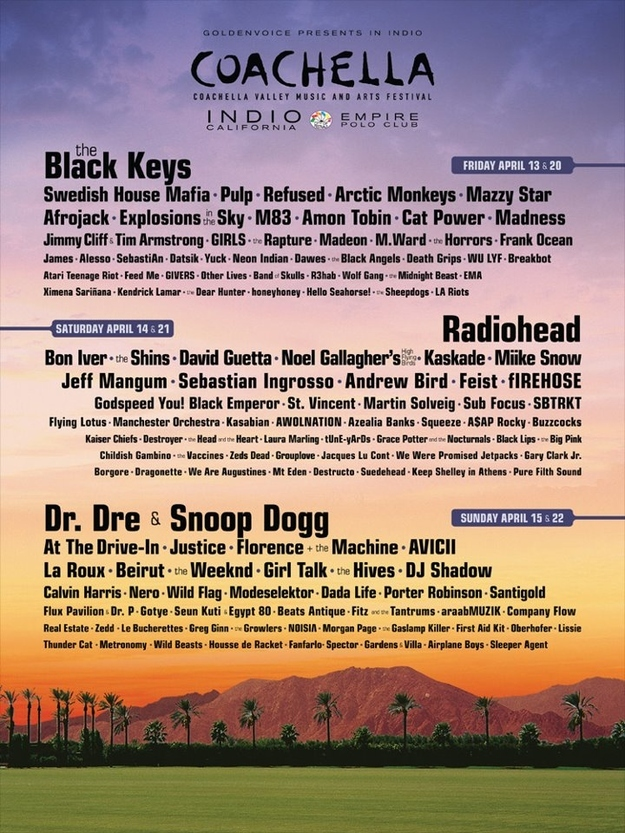 Coachella Line Up is Here!
