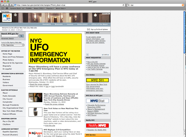 NYC UFO Conspiracy