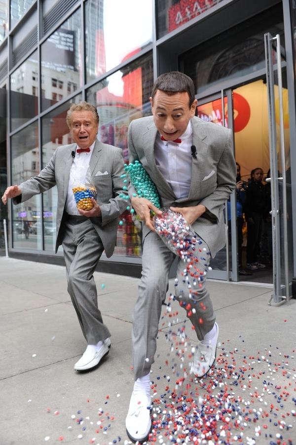 Pee-wee & Regis + Candy = Uh-oh!