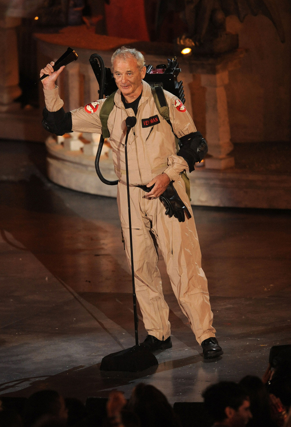 Bill Murray In Full Ghostbusters Gear