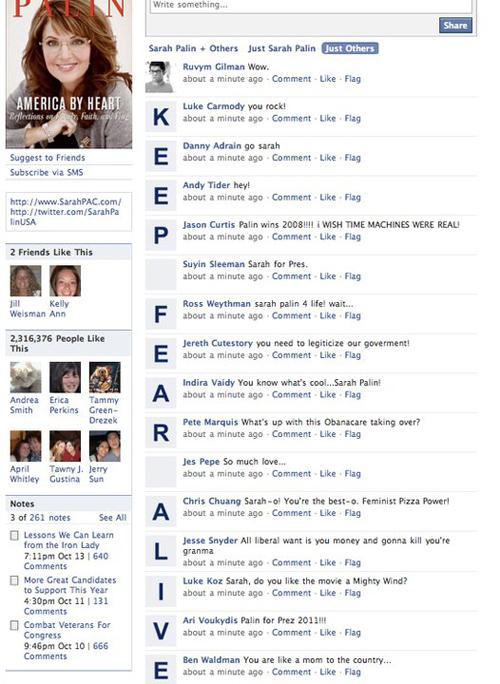 Sarah Palin's Facebook Hijacked