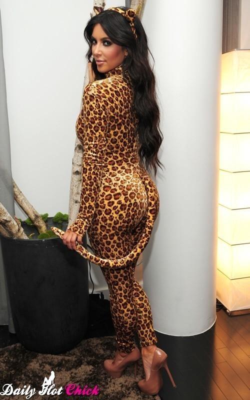 Kim Kardashian's Leopard Costume