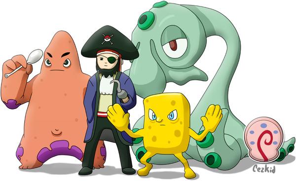 Spongebob Characters As Pokemon