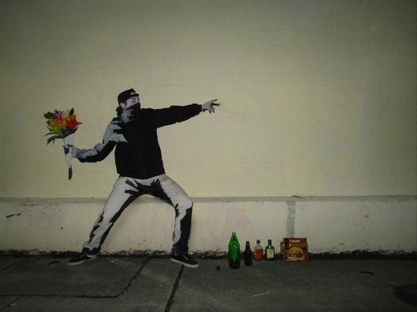 The Banksy Flower Thrower Costume
