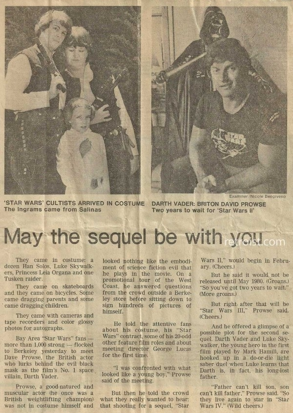 Star Wars Spoilers Via 1978