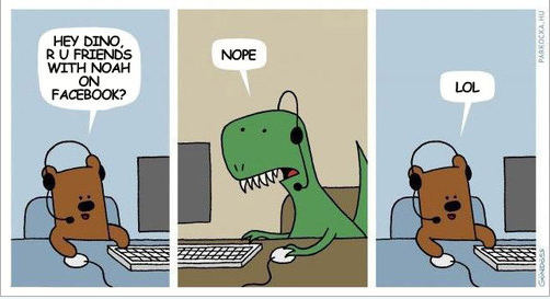 The Real Reason Why Dinosaurs Disappeared  (as Explained Through Facebook)