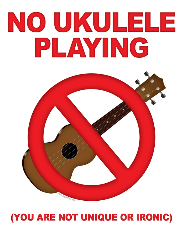 STOP THE UKULELE PLAYING HIPSTERS