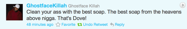 Ghostface Killah Gives Hygiene Advice