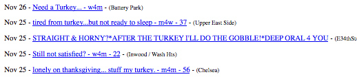 New Yorkers Look For Love With Gross Turkey Metaphors