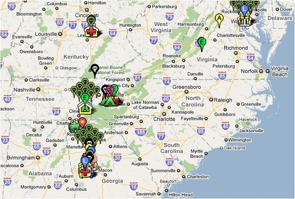 The Walking Dead Google Map