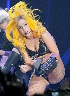 Pop Star Lady Gaga Performing On Stage at the Odyssey Arena, Belfast