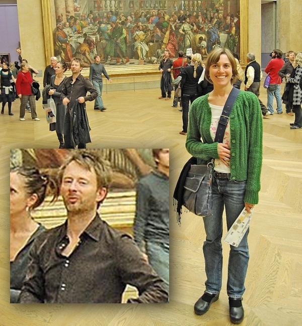 Thom Yorke Photobomb