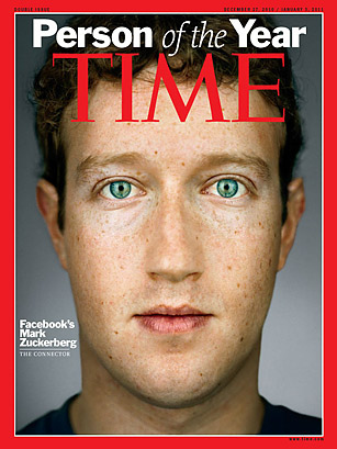"""Mark Zuckerberg  Time's """"Person of the Year"""" for 2010"""