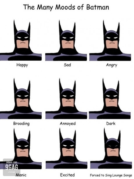 Batman's Moods