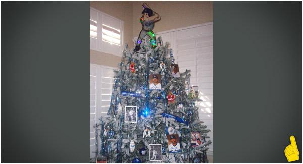 LA Dodgers Christmas Tress