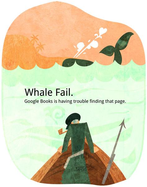 Google Books Elusive White Fail Whale