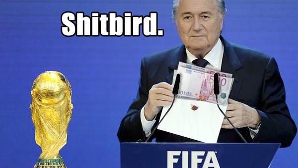 FIFA's Sepp Blatter Balls Up.
