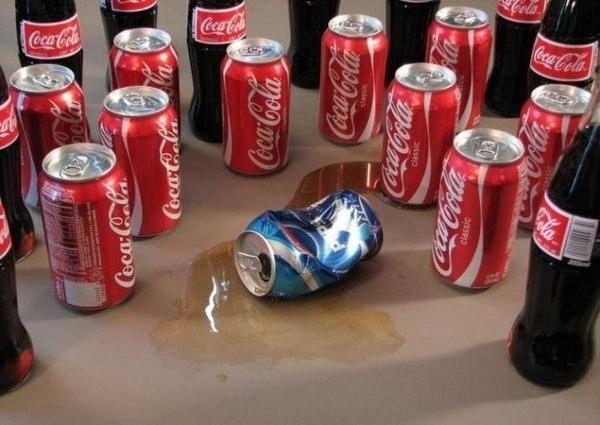 Coke Stomps Pepsi