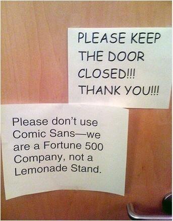 Comic Sans Strikes Again!