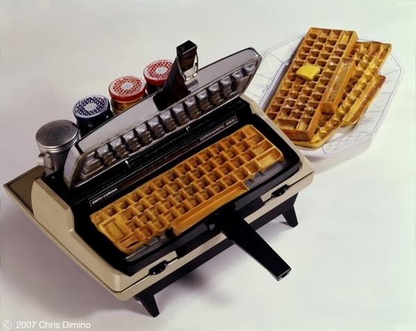 A Keylicious Typewriter Waffle Maker