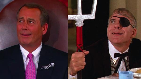 John Boehner's Imitation of Ruprecht in Dirty Rotten Scoundrels