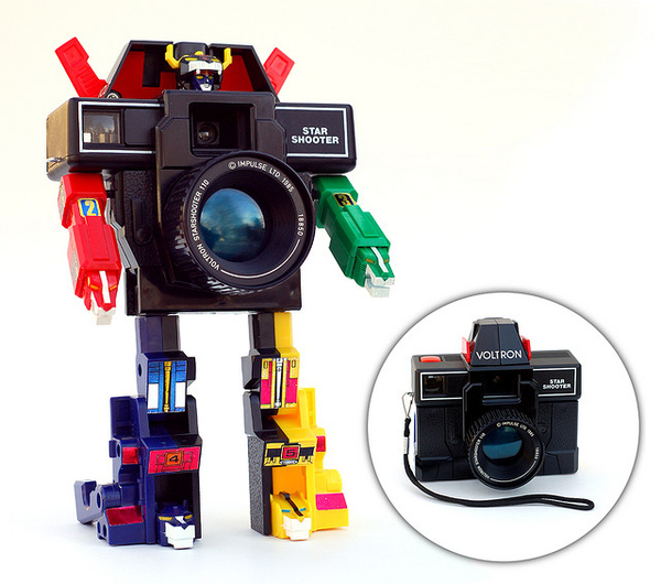 Toy SLR Camera Transforms Into Voltron