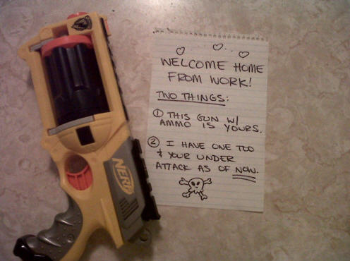 Nerd (and Nerf) Love Note