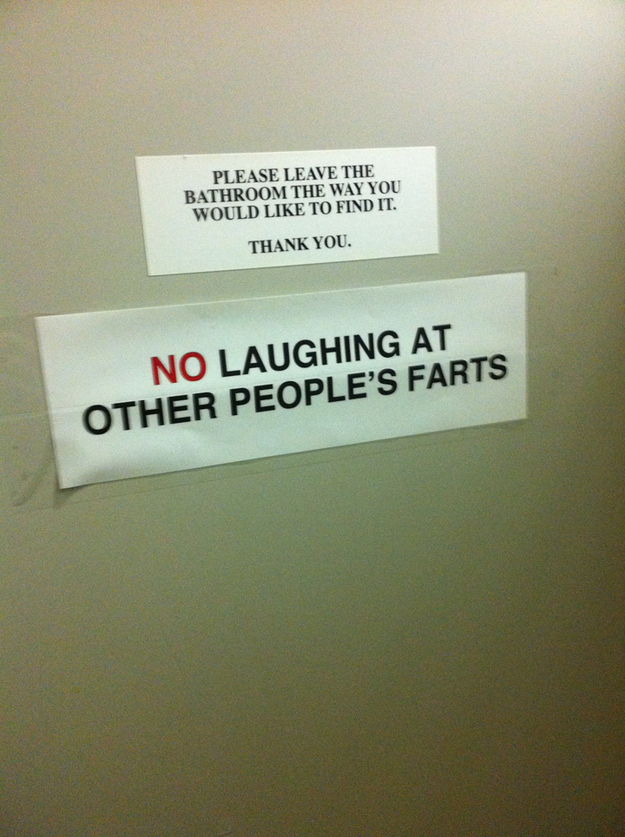 Bathroom Signs No Pooping public bathroom etiquette [pic]