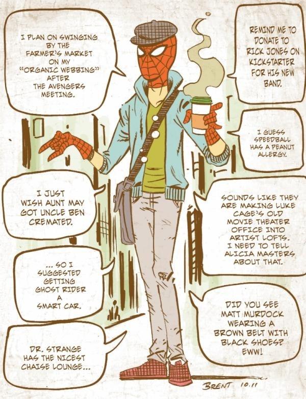 Hipster Spider-Man!