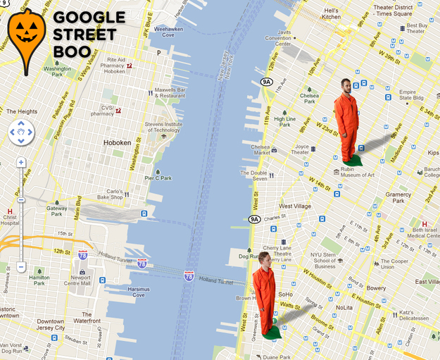 Google Street View + Halloween Costume = Google Street Boo
