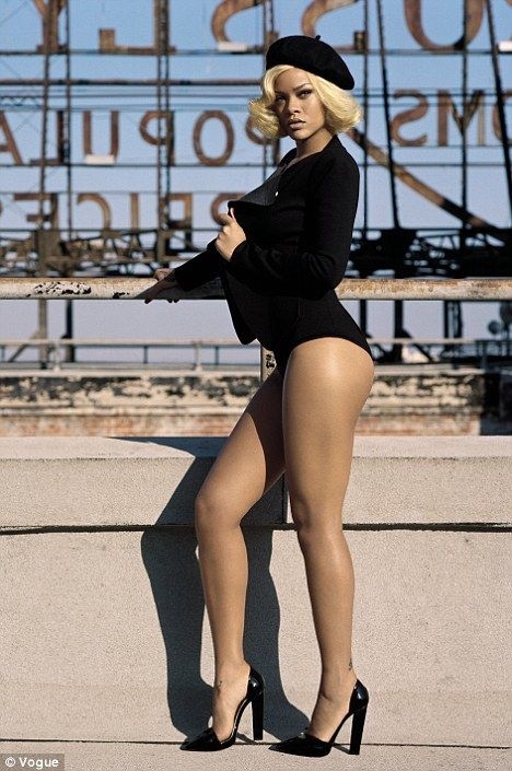 PHOTOS: Rihanna Loses Pants, Goes Blonde For Vogue Uk