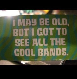 I May Be Old But I Got to See All the Cool Bands.