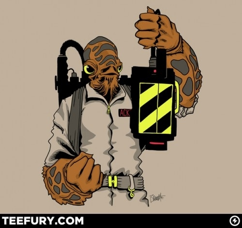 Cool T-Shirt: It's A Trap – Admiral Ackbar / Ghostbusters Mashup