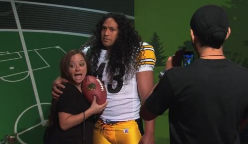 VIDEO: Pittsburgh Steelers' Troy Polamalu SCARES Fans