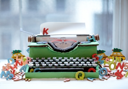 Gingerbread Type Writer