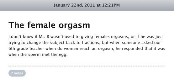 The Female Orgasm
